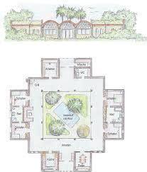 planos de casas con patio central resultado de imagen para planos casas con patio central