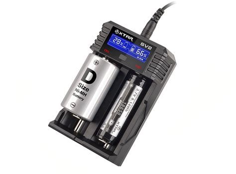 Charger Vape Original 18650xtar Sv2 Rocket Battery Charger 2 Slot xtar rocket sv2 lcd screen fast charging li ion ni mh