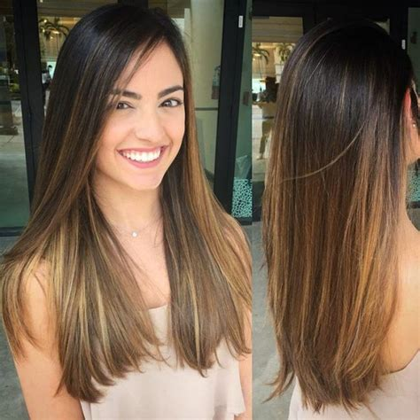 highlights for front sides only for dark brown hair 25 best ideas about balayage straight hair on pinterest