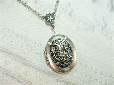 Silver Locket Necklace Owl Locket The Original Silver Owl