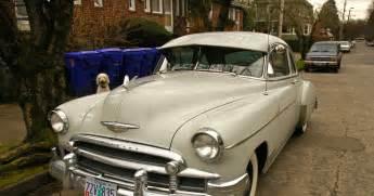 parked cars 1950 chevrolet styleline deluxe sedan