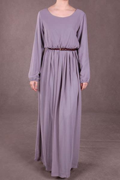 Maxi Dress Daun thrifty nifty pre loved dress thepoplook maxi dress grey