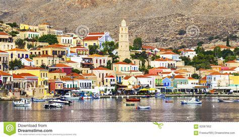 acquisto isole greche isole greche chalki fotografia stock immagine