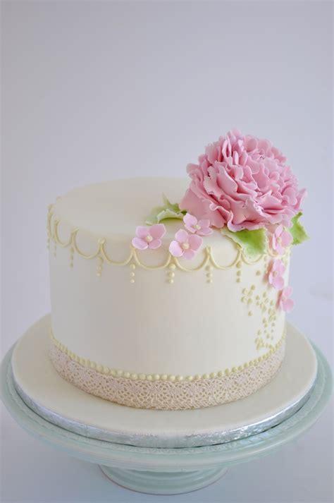 Wedding Cake One Tier by Rozanne S Cakes One Tier Peony Wedding Cake