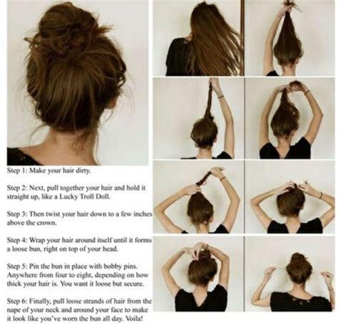 Diy Hairstyles Messy Bun | diy messy bun diy hair stuff pinterest