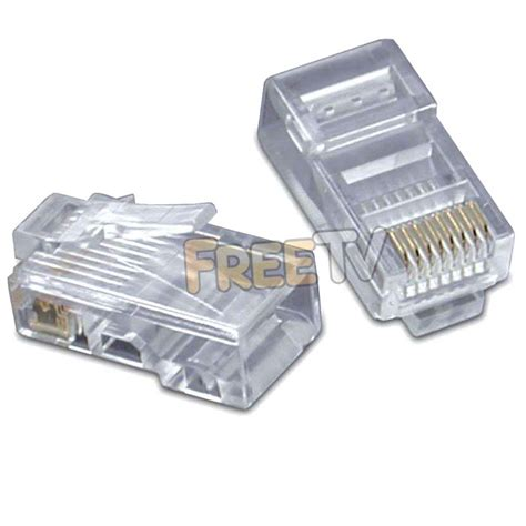 Conector Rj 45 Cat 5 rj45 ethernet cable connectors for cat5 cable