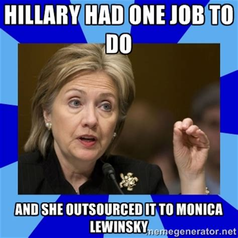 Monica Meme - u s code clinton is disqualified from holding any office