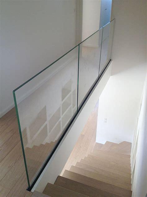 glass banister rails best 25 glass handrail ideas on pinterest