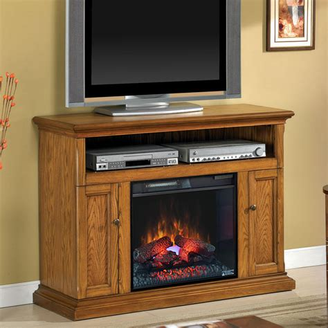 Electric Fireplace And Media Mantel by Cannes 23 Quot Antique Oak Media Console Electric Fireplace