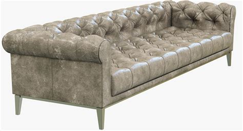 Chesterfield Sofa Restoration Hardware Restoration Hardware Italia Chesterfield Leather Sofa 3d Model Max Cgtrader