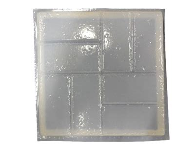 square brick design concrete stepping stone mold