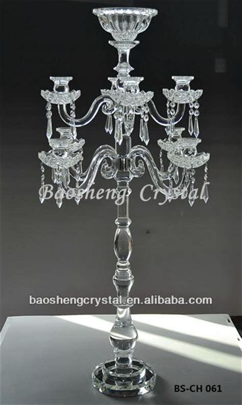 wholesale tall centerpiece 9 arms crystal candelabra