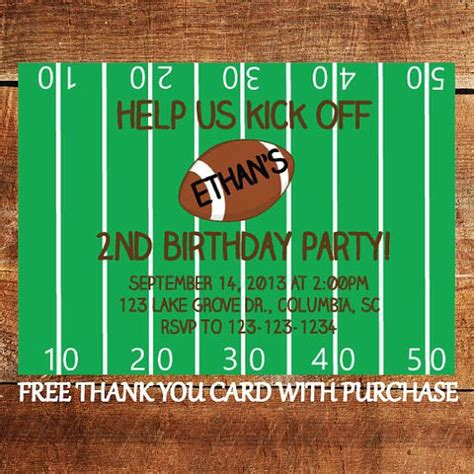 free printable thank you cards sports theme themed birthday parties birthday party invitations and