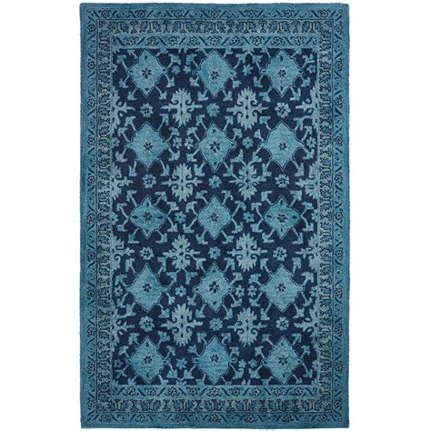 home decorators collection wylie blue 5 ft 3 in x 8 ft