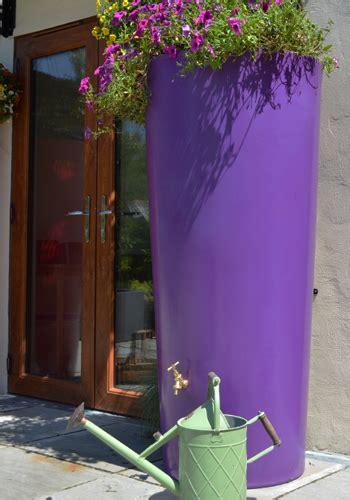 ecosure big city water butt planter purple