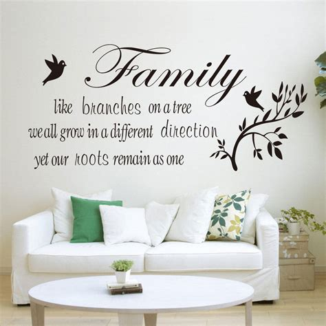 Living Room Wall Quote Decals Family Tree Vinyl Bedroom Living Room Wall Quote Stickers