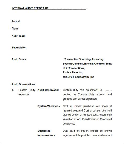 audit report templates 37 brilliant audit report format exles thogati