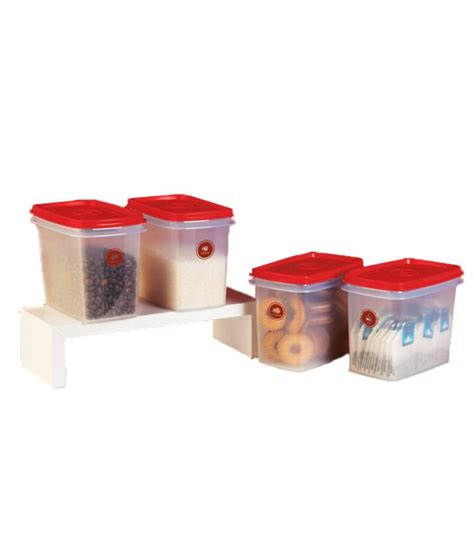 Tupperware Caravela Set 1 tupperware plastic containers set of 4 800ml buy at best price in india snapdeal