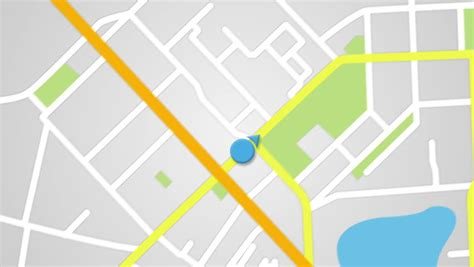 navigation city map and icons animation stock animation city map gps navigation seamless loop animation stock