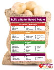 Toppings For A Baked Potato Bar by Build A Better Baked Potato Produce For