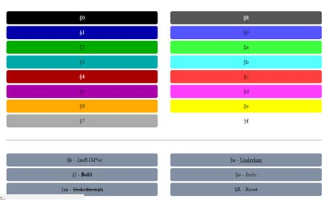 bukkit color codes how to use minecraft color code ipc3