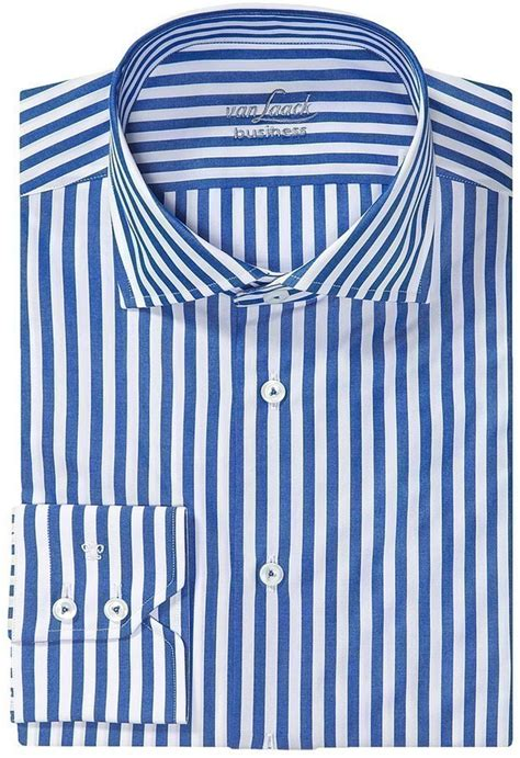 Blue Vertical Stripe Dress 25918 laack rivara multi stripe shirt spread collar sleeve shirt where to buy how to wear