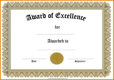blank award certificate templates word 8 templates for blank certificates sle of invoice