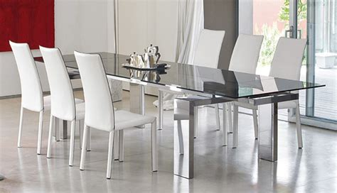 glass dining room table modern dining room set bonaldo