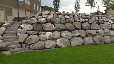 rock wall installations traditional landscape salt