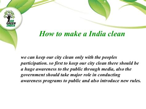 make clean clean city clean india and green world