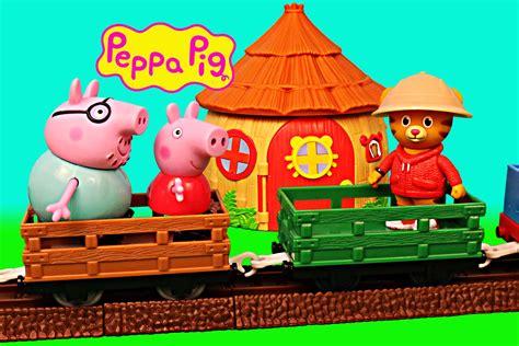 Hello Kitty Mansion peppa pig safari with daniel tiger zoe zebra amp daddy pig