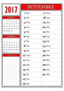 Calendario 2018 Novembre Calendario Calendario Mensile Settembre 2017