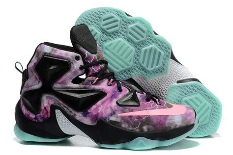 black and pink nike basketball shoes nike lebron 13 all black pink basketball shoes