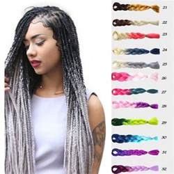 ombre synthetic braiding hair 24 quot long jumbo ombre synthetic afro big braids braiding