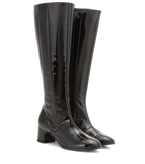 patent leather knee high boots balenciaga mytheresa