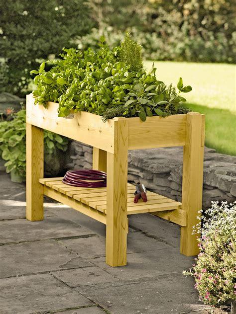 planter boxes standing height cedar raised garden