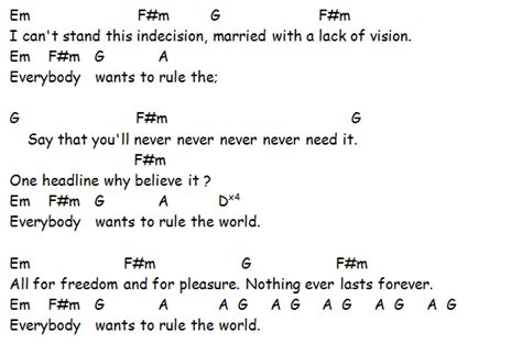 coldplay rule the world lyrics tears for fears everybody wants to rule the world lyrics