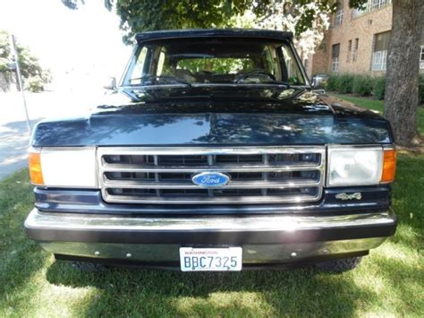 how to sell used cars 1990 ford bronco interior lighting selling at no reserve 1990 ford bronco eddie bauer edition 4x4 true survivor classic ford