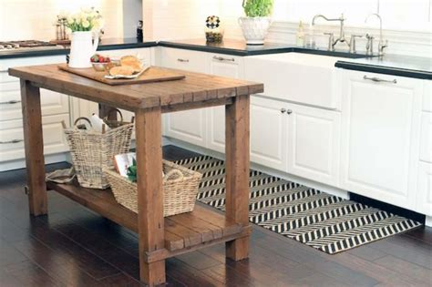 rustic oak butcher block kitchen island cart oak kitchen 15 reclaimed wood kitchen island ideas rilane
