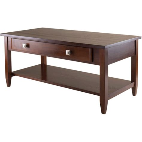 richmond coffee table antique walnut walmart