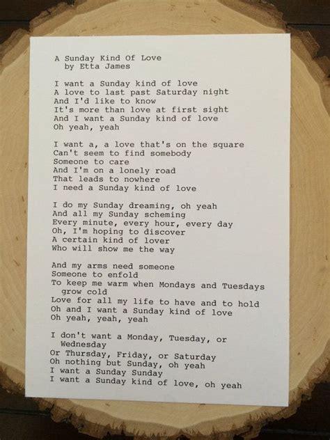 lyrics etta 25 best ideas about sunday of on