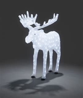 moose 60 inch lighted outdoor display large exterior led reindeer for
