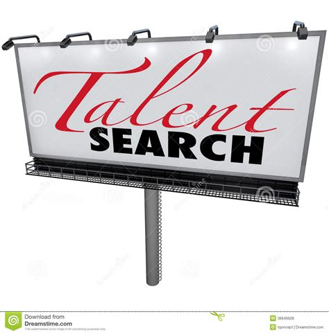 Free Talent Search Talent Search Billboard Help Wanted Find Skilled Workers Royalty Free Stock Photos