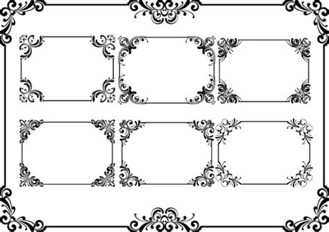eps format borders vector frame vintage free vector download 10 587 free