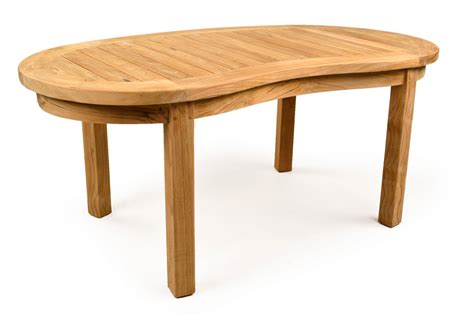 Teak Garden Table Madingley Curved Coffee Teak Garden Table