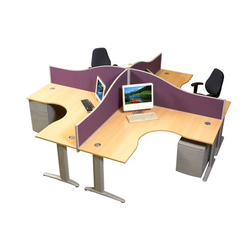four person office desk desking work cemac office solutions