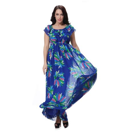 Dress Flower Big Size 4xl floral vestidos large size big maxi dresses plus size chiffon sleeveless summer