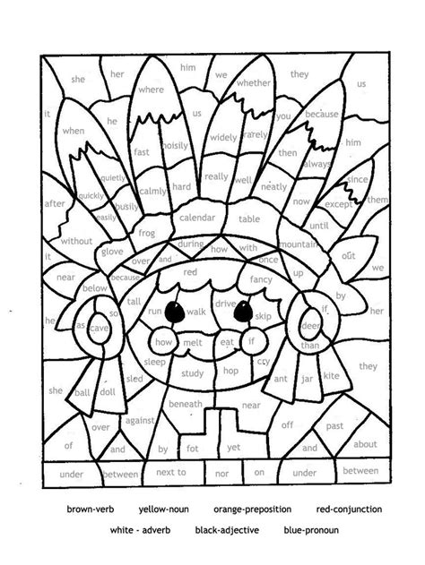 coloring pages for esl students educational coloring pages for parts of speech paint by