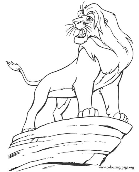 free coloring pages of scar from lion king