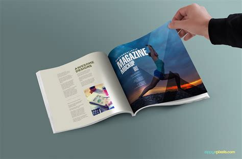 ideas mag free version free psd magazine mockup zippypixels